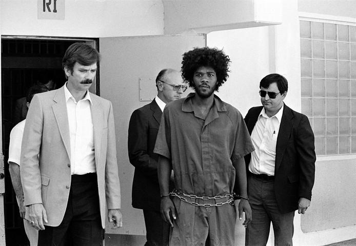 Kevin Cooper na zijn aanhouding in 1983.