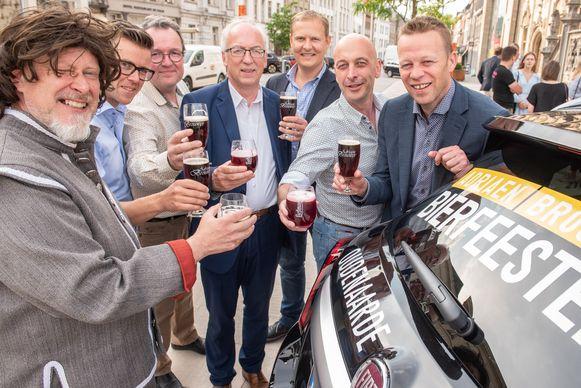 De organisatoren klinken alvast op het succes van de Adriaen Brouwer Bierfeesten 2019
