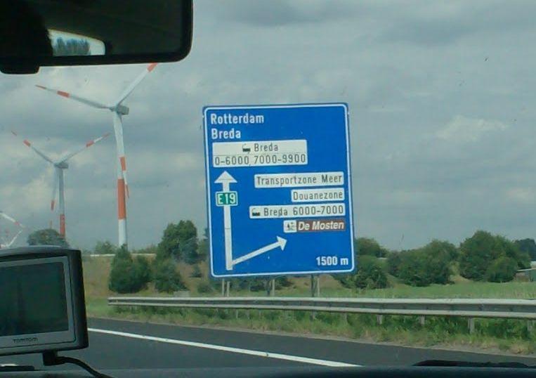 De Transportzone is enkel nog via de E19 te bereiken.
