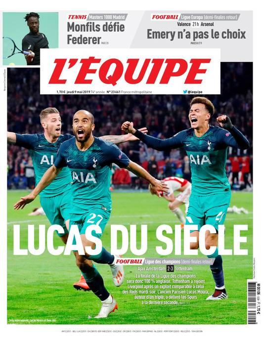 De voorpagina van L'Équipe.
