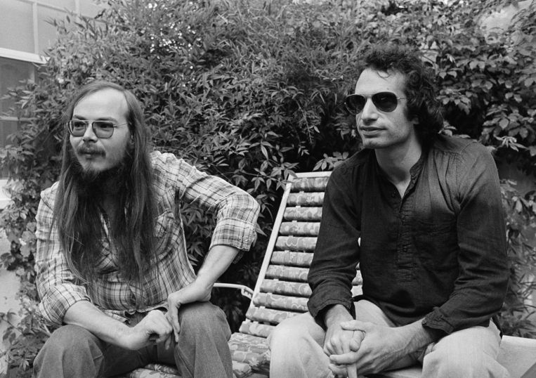 Becker (links) met Donald Fagen, de andere oprichter van Steely Dan.