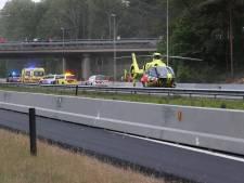 Gewonde man op vluchtstrook naast A67 in Veldhoven