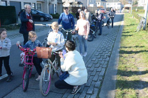 De actie kende een groot succes: het was aanschuiven voor een fietslabel