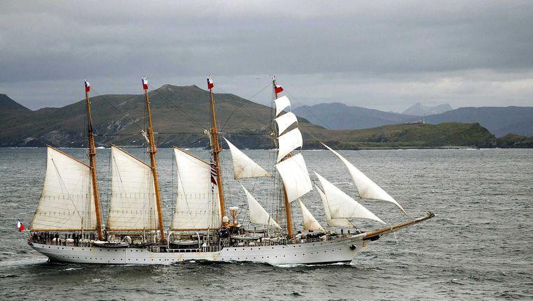 Het Chileense schip 'Esmeralda' komt naar Nederland. Beeld null