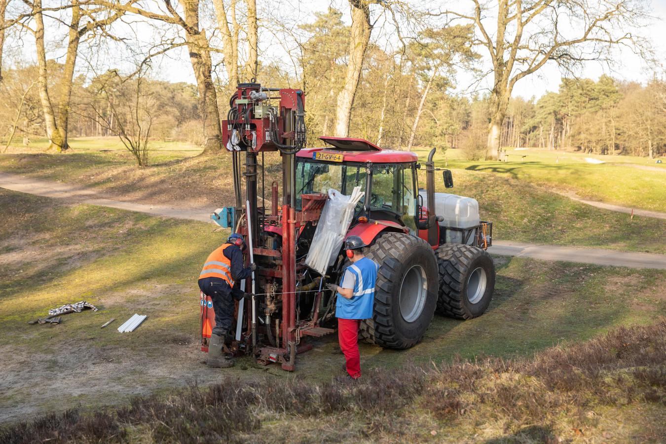 Op verschillende plekken in Midden-Nederland wordt seismisch onderzoek gedaan, zoals hier bij Baarn.