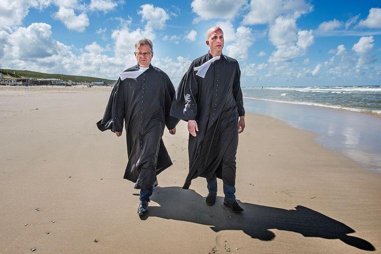 Nico Meijering en collega Christian Flokstra Beeld Guus Dubbelman / de Volkskrant