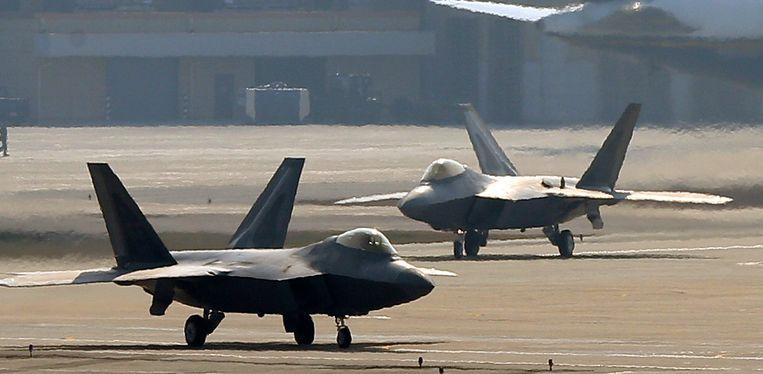 F-22 Raptors van het Amerikaanse leger.