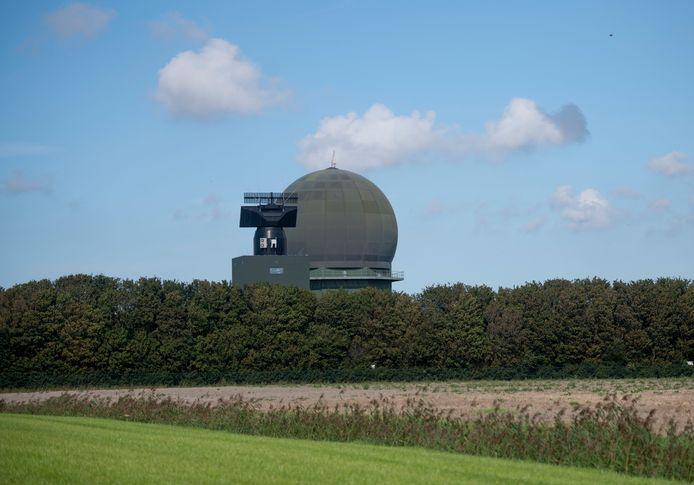 De radar in Wier (Friesland).