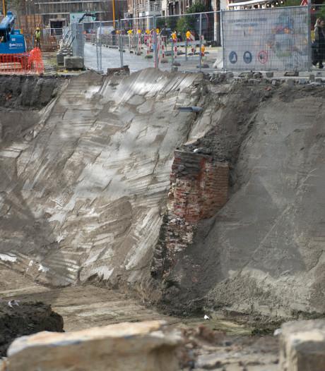 Restanten historische citadel gevonden bij graafwerken parking Gedempte Zuiderdokken