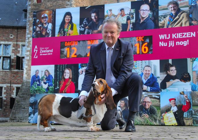 Peter van Dijk met hond Pip