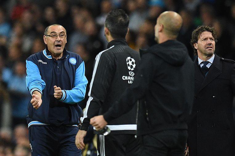 Twee strategen tegenover elkaar vanavond: Sarri en Guardiola.