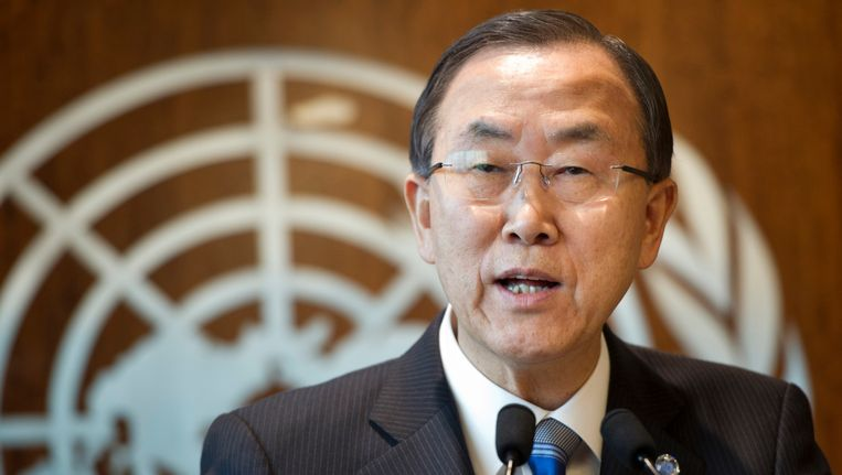 VN-chef Ban Ki-moon Beeld AP