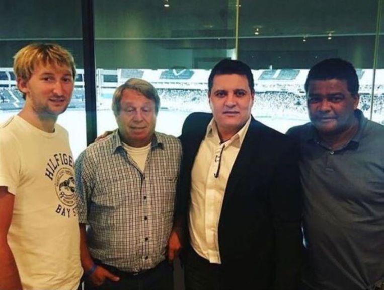 Pieter Eeclo, links op de foto naast Werner De Raeve, een makelaar en Dimitri M'buyu.
