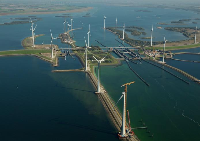 Windpark Krammer draait al volop. De officiële opening volgt in mei