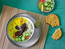 Wat Eten We Vandaag: Frisse gele curry met tempeh en limoen