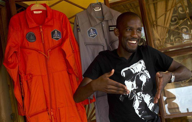 Mandla Maseko in 2014, toen hij gekozen werd om de ruimte in te gaan.  Beeld AFP