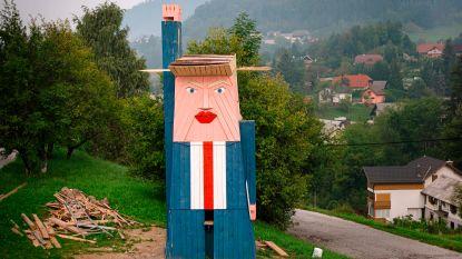 Als twee druppels water: Trump is een Vrijheidsbeeld