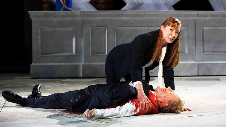 Julius Caesar door The Public Theater. Beeld