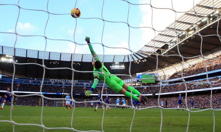 Kepa kansloos. Agüero is nu ook in de Engelse competitie all-time topschutter van Manchester City en heeft net als Alan Shearer een recordaantal van elf hattricks.