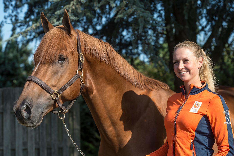 Renske kroeze gaat met het Nederlands eventingteam naar de wereldruiterspelen in de VS.