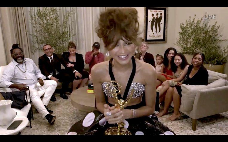 Zendaya wint de Emmy voor haar rol in Euphoria. Beeld Getty