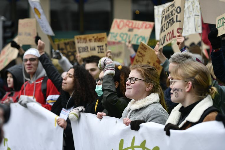 Donderdag 31 januari was alweer de vierde klimaatmars van Youth For Climate in Brussel.