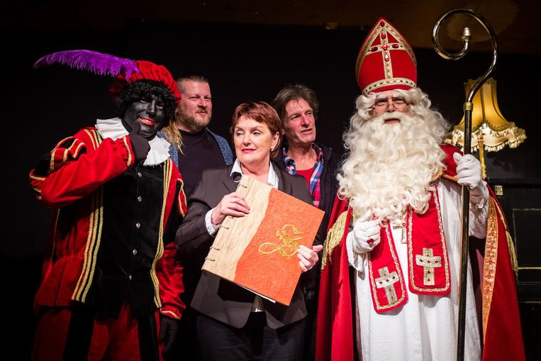Sinterklaas en Zwarte Piet met Lieve Joos, Youri Hollanders en Willy Hillen.