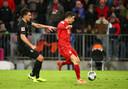 Robert Lewandowski met de 2-1 voor Bayern.
