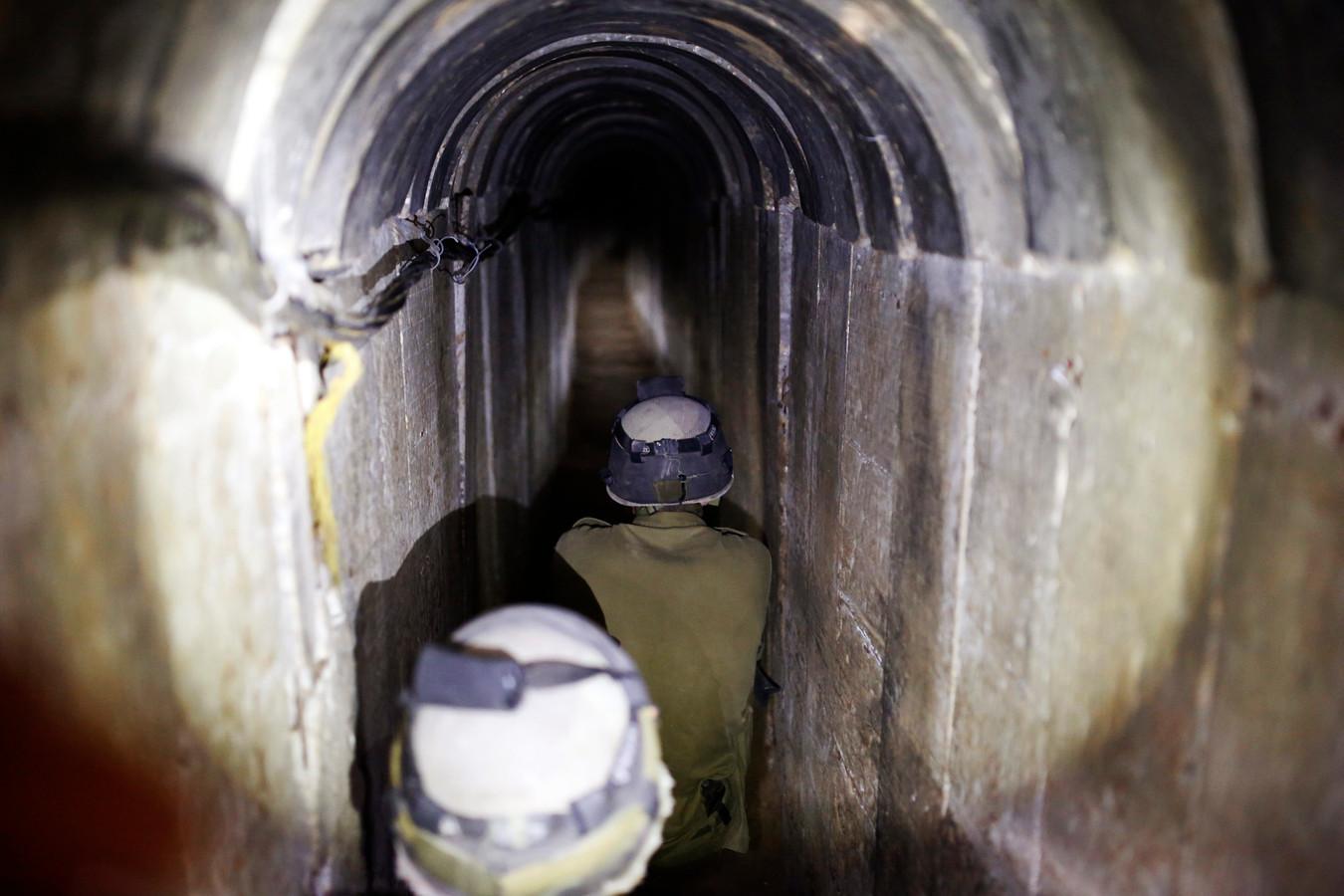 Tunnel découvert par l'armée israélienne dans le sud de la Bande de Gaza (archives, octobre 2013)