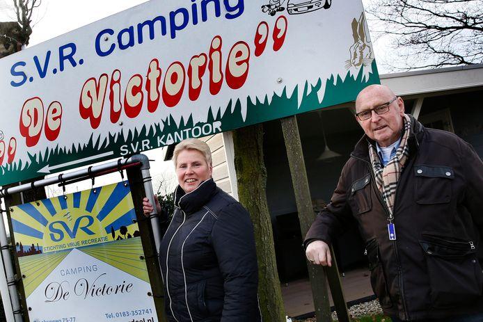 Archieffoto (2015) van Corine van Mill van Stichting Vrije Recreatie in Meerkerk en haar vader Willem.