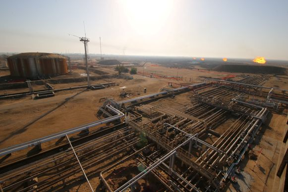 Het Rumaila olieveld in Basra, Irak.