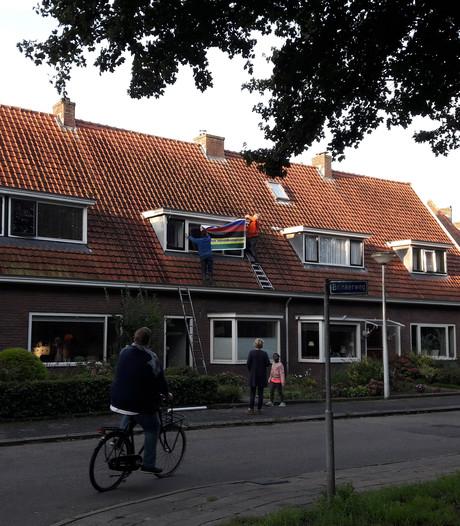 Buren Annemiek van Vleuten versieren huis kersverse wereldkampioen