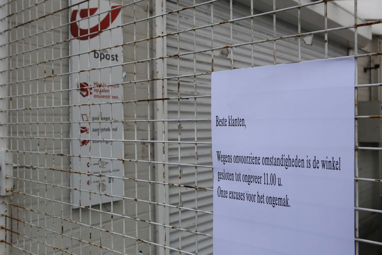 De winkel bleef tot iets voor de middag noodgedwongen gesloten