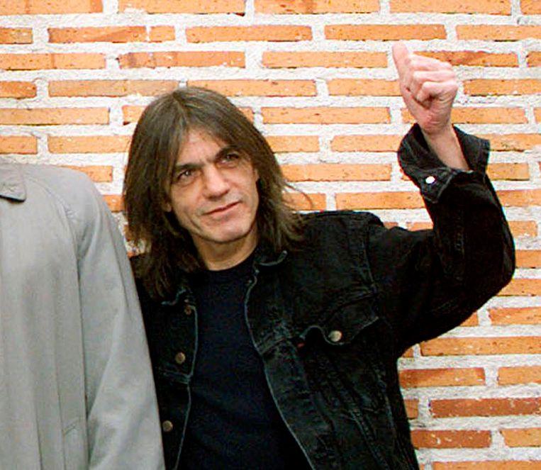 Malcolm Young in 2000,  bij de inhuldiging van de AC/DC-straat in de Spaanse hoofdstad Madrid.