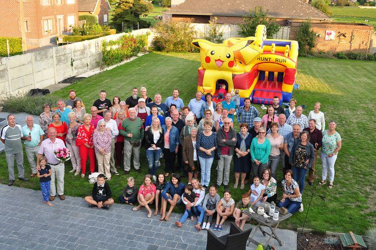 De bewoners maakten er een leuk feest van.