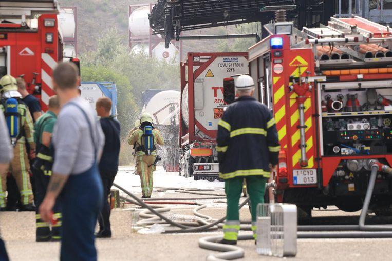 De brand woedde aan een vulinstallatie bij het bedrijf.