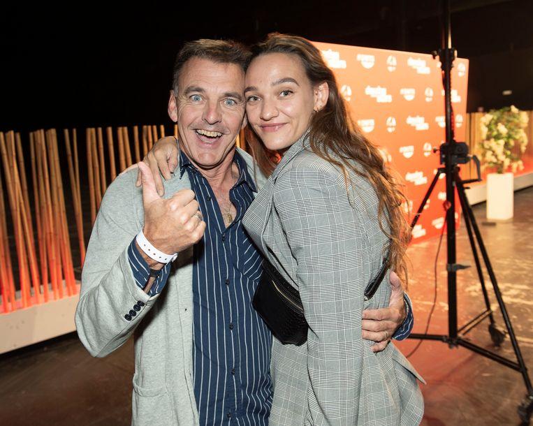 Herbert en Viktor, de ex-man en dochter van Ann Pira.