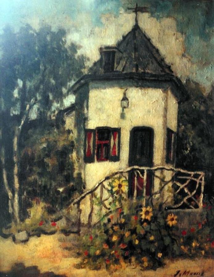Het Torenhuisje, door Van Mourik geschilderd in de jaren twintig.