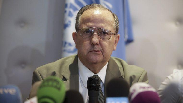 De speciale VN-rapporteur Juan Mendez. Beeld reuters