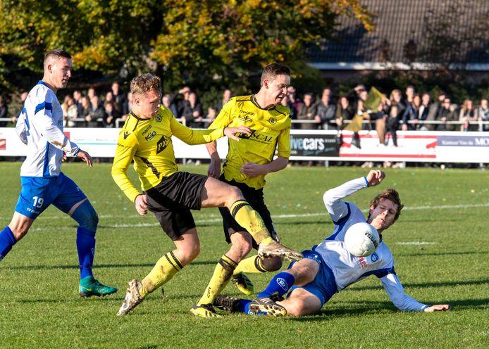ZSV - Deurne in november 2019. De derby's tussen beide clubs staan komend seizoen opnieuw op het programma in 1D.
