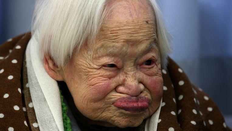 Deze Misao Okawa is de oudste vrouw ter wereld.