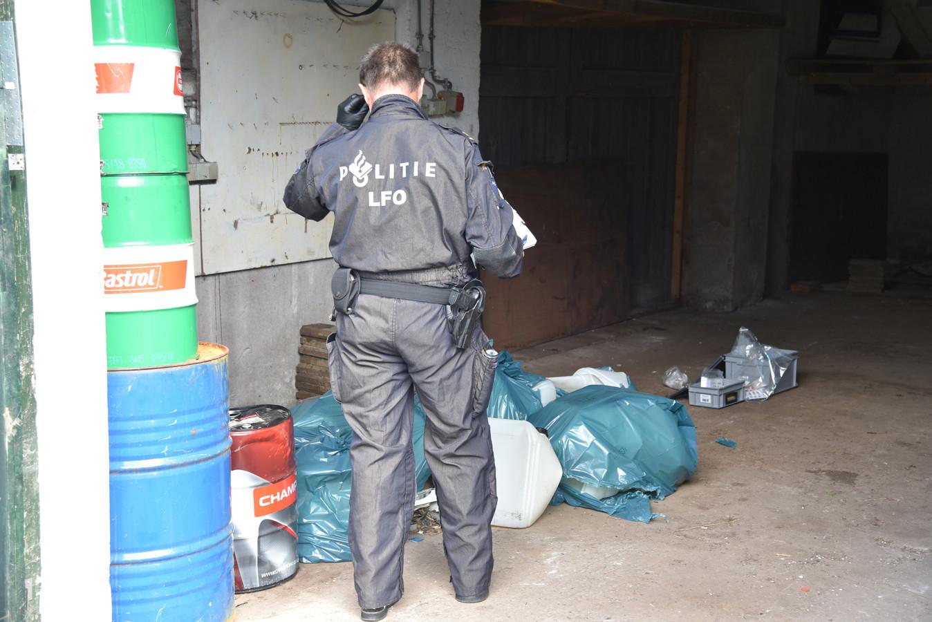 Drugslab aangetroffen in Dodewaard.