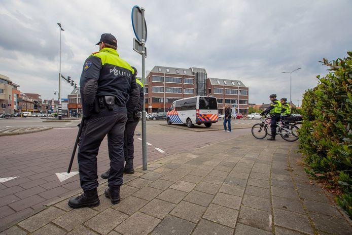 De demonstratie van Pegida in Eindhoven op 6 mei ging op het nippertje niet door.