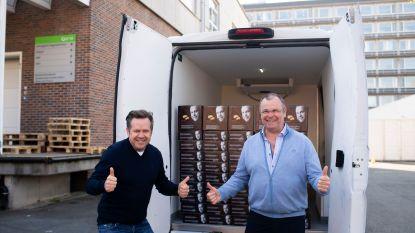 Culinaire website Njomly en toppatissier Roger van Damme schenken 1.000 pannenkoeken aan zorgverleners en frontlijnmedewerkers ZNA Jan Palfijn