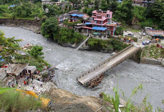 Raghu Ganga River in Myagdi, Nepal.