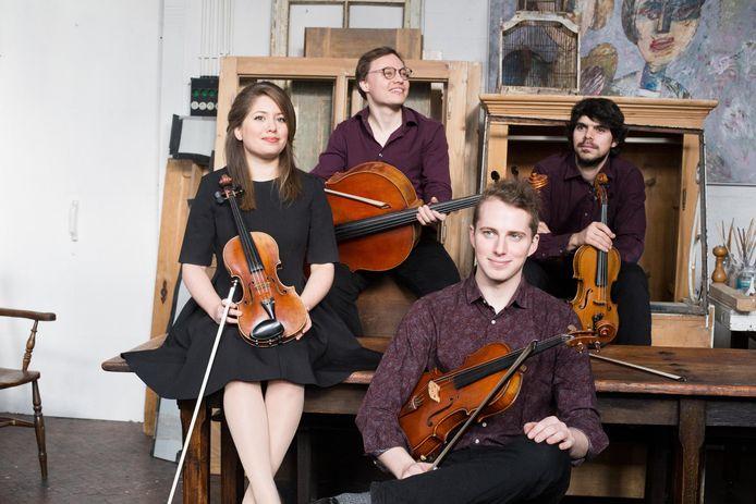 Het Babylon Quartet treedt op in Buitenplaats Doornburgh in Maarssen.