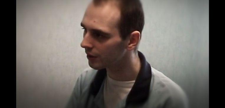 Kim De Gelder tijdens een videoverhoor, een fragment dat uitgezonden werd tijdens de reeks 'Kroongetuigen'