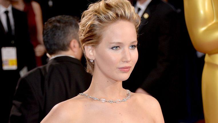 Jennifer Lawrence bij de Oscars. Beeld Getty Images