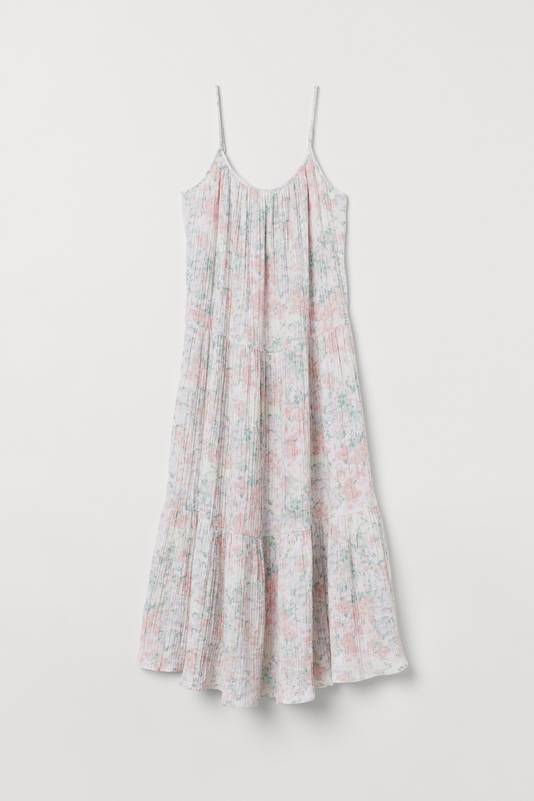 Robe en coton froissé - 24,99 euros.