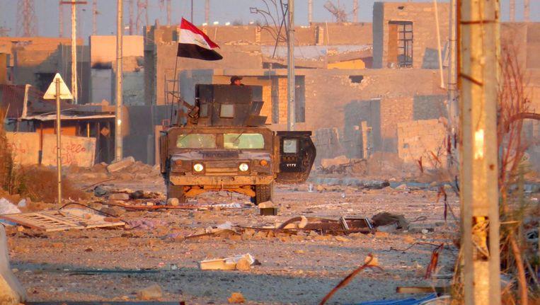 Iraakse militairen in Ramadi Beeld afp